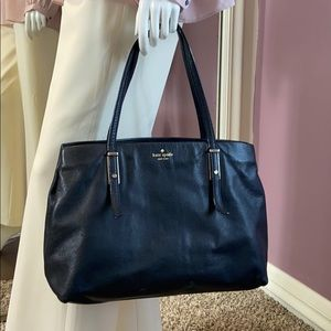 Kate Spade Large Black Leather Tote Bag